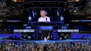 La candidate démocrate Hillary Clinton le 28 juillet 2016 à Philadelphie (Pennsylvanie). (SAUL LOEB / AFP)