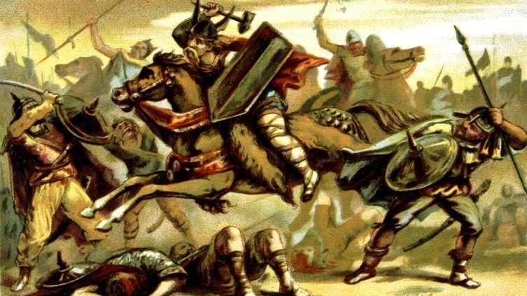 Charles Martel combattant les Sarrazins. (PHOTO12)