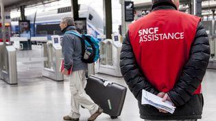 Gare de Lyon à Paris, vendredi 13 avril 2018. (DAVID SEYER / CROWDSPARK / AFP)