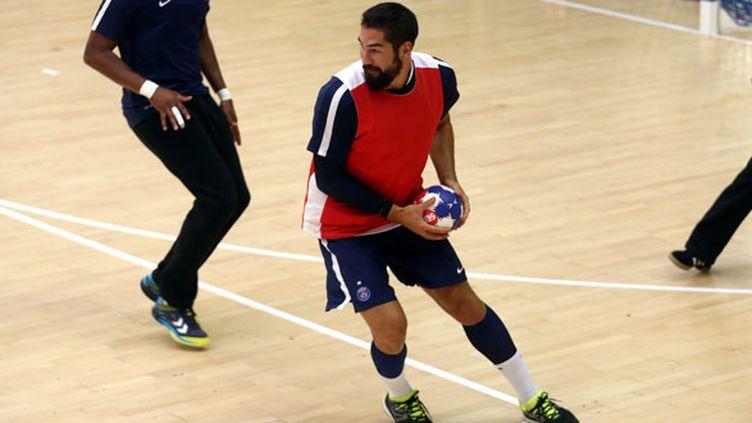 Nikola Karabatic à l'entraînement avec le PSG