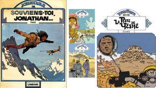 L'ultime aventure de Jonathan:La Piste de Yéshé, où Cosey, à 71 ans, boucle la boucle.  (COSEY, LE LOMBARD / COSEY, LE LOMBARD / COSEY, LE LOMBARD / COSEY, LE LOMBARD)