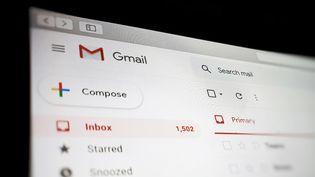 La page d'accueil de Gmail (image d'illustration) (GARETH FULLER / MAXPPP)