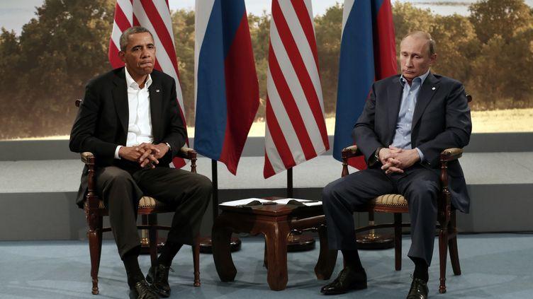 Barack Obama et Vladimir Poutine ausommet du G8 en Irlande du Nord, le 17 juin 2013. (© KEVIN LAMARQUE / REUTERS / X00157)