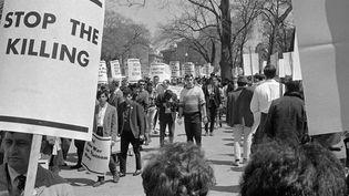Manifestation aux Etats-Unis contre la guerre au Vietnam  (AFP)