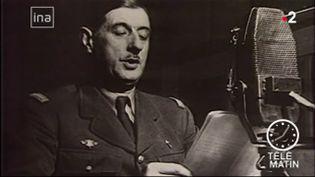Il y a 79 ans, le général de Gaulle lançait son appel du 18-Juin depuis Londres (Grande-Bretagne). France 2 revient sur cette date historique. (FRANCE 2)