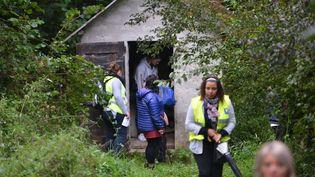 Les volontaires doivent prévenir la gendarmerie en cas de découverte d'un possible indice sur la disparition de Maëlys, àPont-de-Beauvoisin (Isère), samedi 2 septembre 2017. (ALLILI / SIPA)