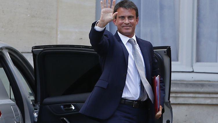 Le Premier ministre, Manuel Valls, le 26 août 2014 à Matignon. (THOMAS SAMSON / AFP)
