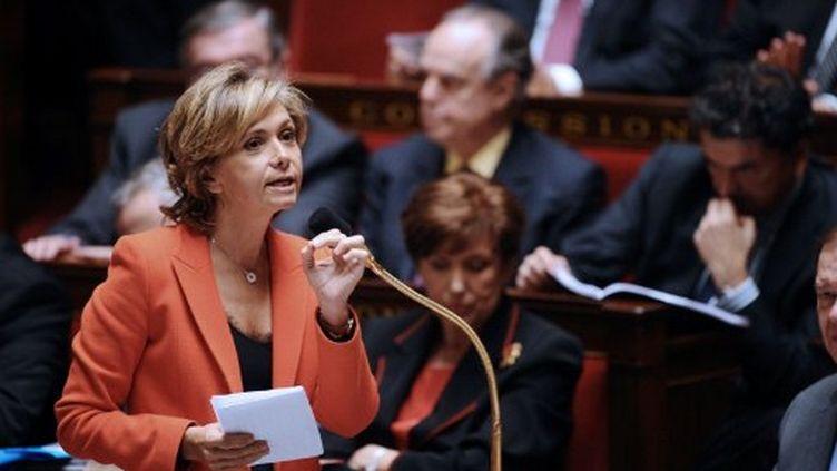 La ministre du Budget, Valérie Pécresse, lors des questions au gouvernement, le mardi 8 novembre. (MARTIN BUREAU / AFP)