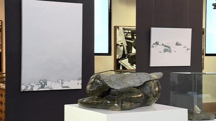 """Sculpture représentant la déesse Sedna / Exposition """"Linked"""" au Musée océanographique de Monaco  (Capture d'écran France 3/Culturebox)"""