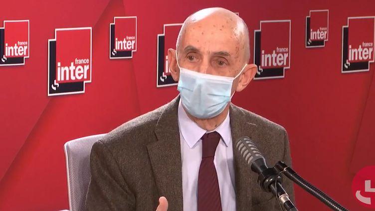 Louis Gallois, ex-président du Conseil de surveillance de PSA, le 18 janvier 2021 sur France Inter. (FRANCEINTER / RADIOFRANCE)