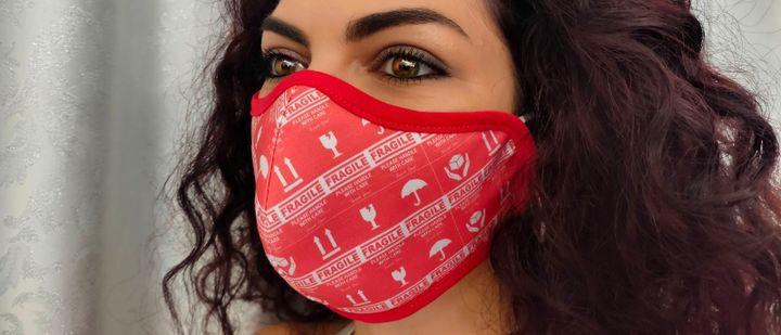 Masque réalisé par l'artiste irakienMohammed El Shammari pour l'Institut du Monde Arabe  (DR)