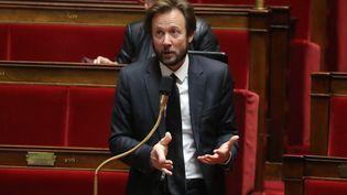 Boris Vallaud, le porte-parole du Parti socialiste, à l'Assemblée nationale, le 21 mars 2020. (LUDOVIC MARIN / POOL / AFP)