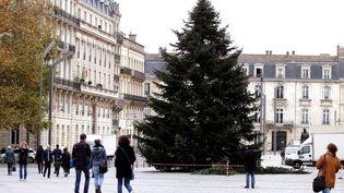 Le sapin de Noël de la municipalité de Bordeaux, place Pey Berland, en novembre 2016. (BONNAUD GUILLAUME / MAXPPP)