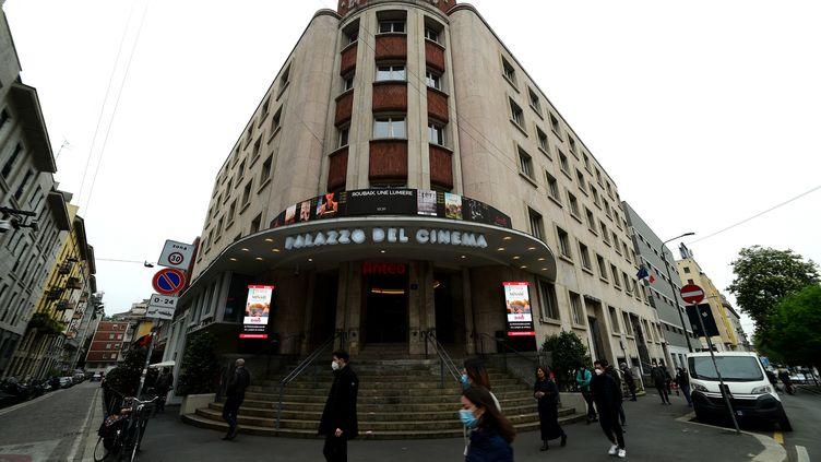 Le cinéma Anteo Multiplex, à Milan, le 26 avril 2021 (PIER MARCO TACCA / ANADOLU AGENCY / AFP)