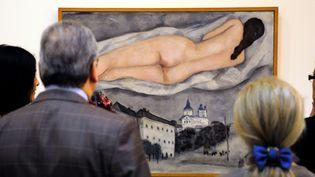 """Un nu de Marc Chagall exposé en 2012 à """"La Piscine"""" de Roubaix (il ne s'agit pas du faux acheté par le Britannique Martin Lang).  (Philippe Huguen / AFP)"""