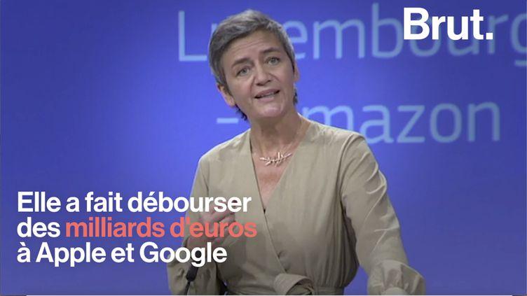 Margrethe Vestager, commissaire européenne à la concurrence, a infligé des amendes astronomiques à des grandes multinationales pour leurs pratiques fiscales ou leurs abus de position dominante. (BRUT)
