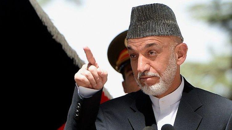 Hamid Karzaï, président d'Afghanistan jusqu'en 2014. (SHAH MARAI / AFP)