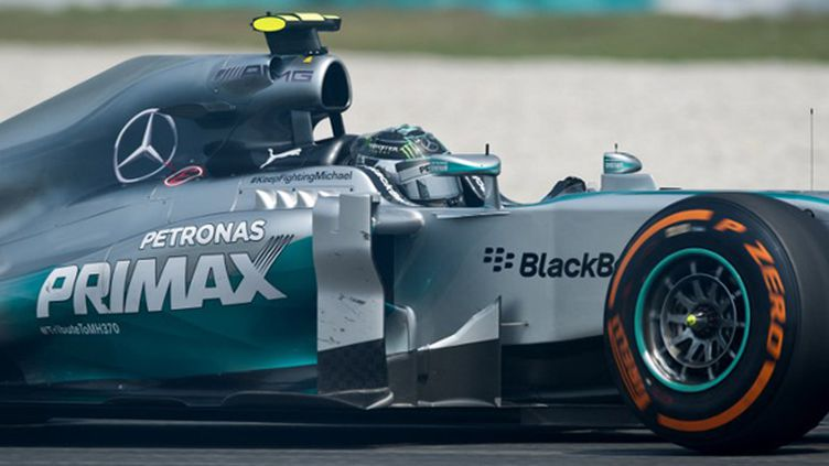 Nico Rosberg (Mercedes) sur le circuit de Sepang en Malaisie (MOHD RASFAN / AFP)
