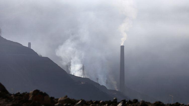 La mine de cuivre El Teniente, au Chili. (CLAUDIO REYES / AFP)