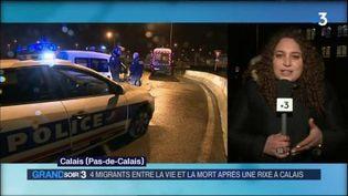 Lilia Haffaf, envoyée spéciale à Calais. (FRANCE 3)