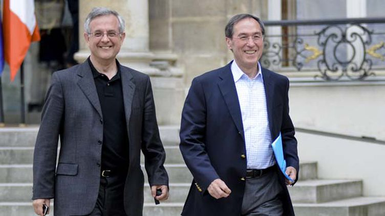 (Xavier Musca et Claude Guéant en 2009 © Maxppp)