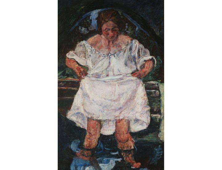 "Chaïm Soutine, (1893-1943, ""Femme entrant dans l'eau"", 1931, Londres, MAGMA (© Museum of Avant-Garde Mastery of Europe (MAGMA of Europe))"