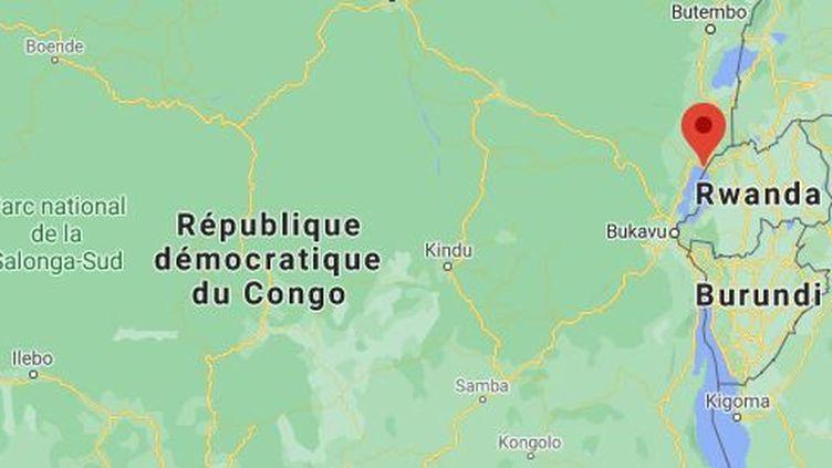 L'attaque contre le convoi a eu lieu le lundi 22 février 2021 au nord de Goma, chef-lieu de la province du Nord-Kivu (République démocratique du Congo), en proie à la violence des groupes armés depuis plus de 25 ans. (GOOGLE MAPS)