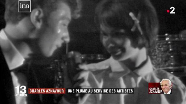 Mort de Charles Aznavour : de Johnny Hallyday à Zaz, une plume au service de nombreux artistes