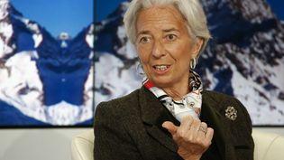 La directrice du FMI Christine Lagarde, au Forum économique mondial de Davos (Suisse), le 22 janvier 2015. (RUBEN SPRICH / REUTERS)