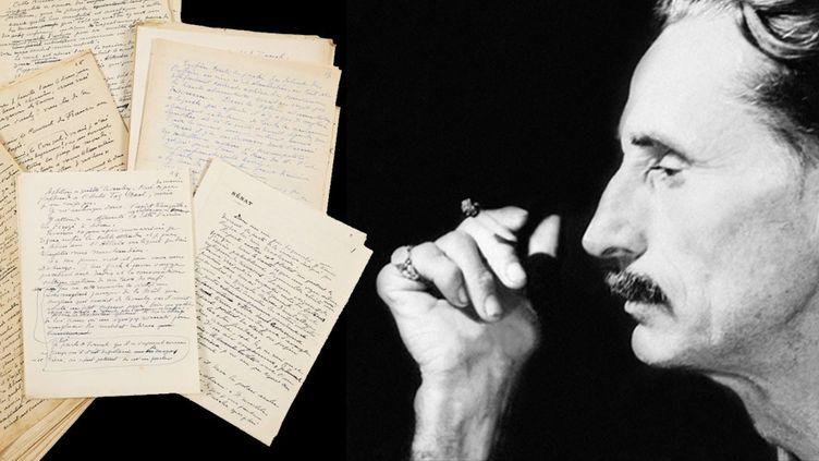 """""""La Poursuite du Kaïpan"""" Premier état connu Fragments d'un manuscrit autographe, Henry de Monfreid  (AFP / Artcurial)"""