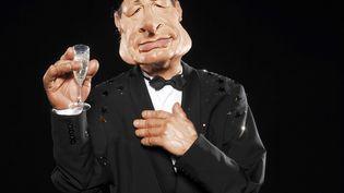 """La marionnette à l'effigie de Jacques Chirac dans l'émission """"les Guignols de l'Info"""",sur Canal +, en 2009. (CORLOUER RENAUD / SIPA)"""