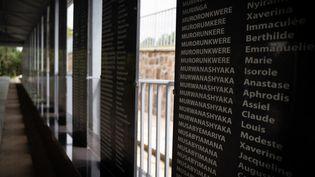 Nom de victimes du génocide au Rwanda. (SIMON WOHLFAHRT / AFP)