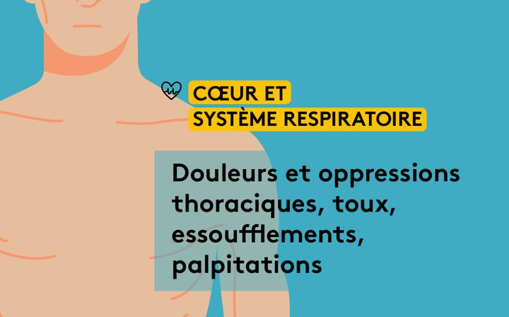 """Les effets du """"Covid long"""" sur lesystème cardio-respiratoire. (JESSICA KOMGUEN / FRANCEINFO)"""