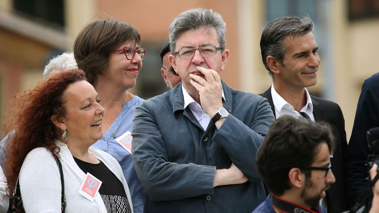 Le leader de la France insoumise, Jean-Luc Mélenchon, le 5 juin 2017 à Toulouse (Haute-Garonne). (JEAN-MARC HAEDRICH / SIPA)