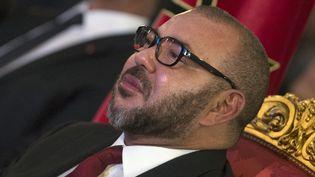 Mohammed VI, roi du Maroc à Tanger le 27 septembre 2016, Signature de l'installation de l'avionneur Boeing à Tanger. (FADEL SENNA / AFP)