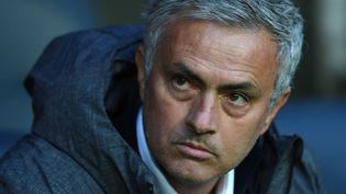 L'entraîneur portugais de Manchester United José Mourinho, le 24 mai 2017 à la Friends Arena de Solna (Suède). (PAUL ELLIS / AFP)