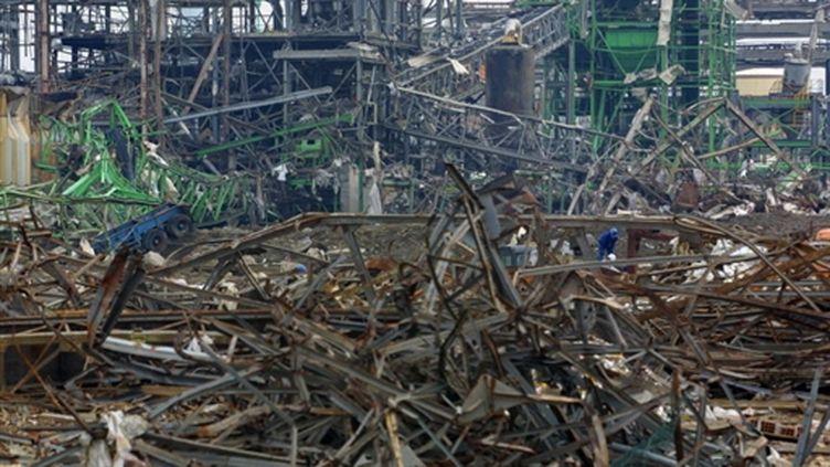 L'usine chimique AZF à Toulouse, 15 jours après l'explosion le 21 septembre 2001 faisant 29 morts. (AFP/ PHOTO ERIC CABANIS)