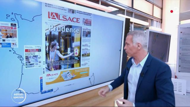 Kiosque à journaux : les unes consacrées au déconfinement