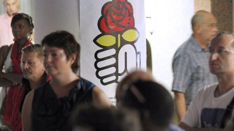 Réunion publique du Parti socialiste, le 10 septembre 2011, à Montreuil (PATRICK KOVARIK / AFP)
