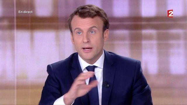 """Présidentielle : Macron à Le Pen : """"La grande prêtresse de la peur est en face de moi"""""""