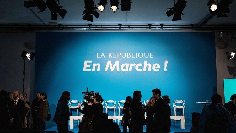 La République en marche donne une conférence de presse à Paris, le 24 janvier 2019. (MAXPPP)