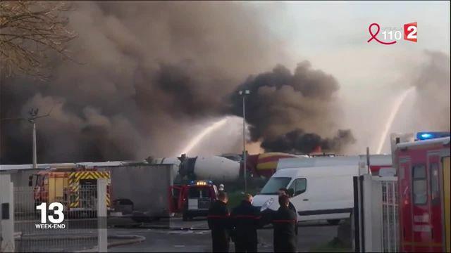 Gironde : un incendie a ravagé des camions-citernes dans une zone industrielle