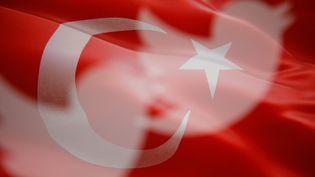Le logo de Twitter combiné avec le drapeau turc, créé le 10 mai 2017. (JAAP ARRIENS / NURPHOTO)