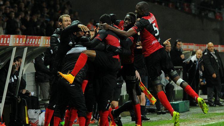 Les Guingampais espèrent un nouvel exploit face au Dynamo Kiev en 16e de finale de Ligue Europa (PATRICK TELLIER / MAXPPP)