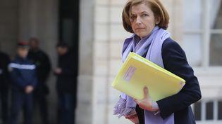 La ministre des Armées, Florence Parly dans la cour du Palais de l'Elysée à Paris, le 10 avril 2018. (LUDOVIC MARIN / AFP)