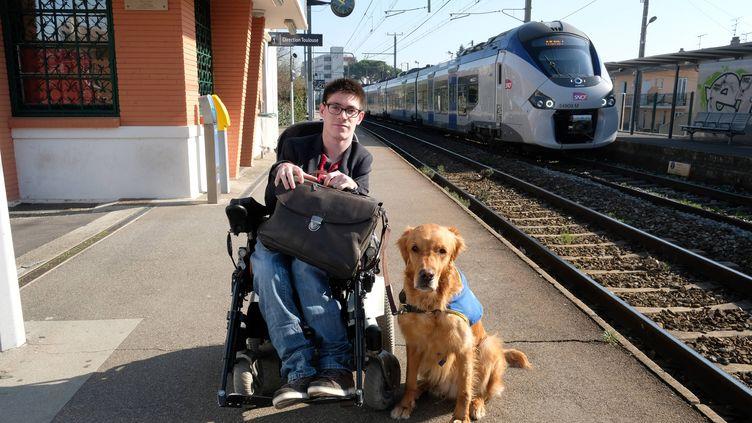 Kévin Fermine, porte plainte contre la SNCF pour discrimination. (ERIC CABANIS / AFP)
