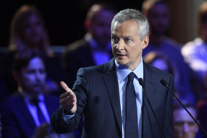 Bruno Le Maire lors du deuxième débat télévisé entre les candidats à la primaire à droite, le 3 novembre 2016. (ERIC FEFERBERG / AFP)