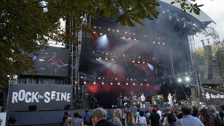 16eme édition du festival de musique Rock-en-Seine au Domaine National de Saint-Cloud 24/08/2018  (SADAKA EDMOND/SIPA)