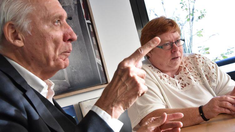 Jean-Paul Teissonière et Murielle Bolle en novembre 2018. (ERIC THIEBAUT / MAXPPP)
