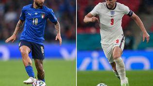 L'Italie de Lorenzo Insigne affronte l'Angleterre de Harry Kane en finale de l'Euro 2021. (FRANK AUGSTEIN / AFP)